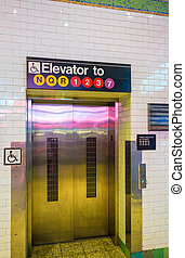 Elevator in New York City subway