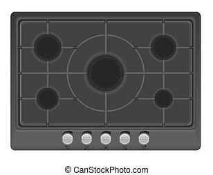 surface for gas stove vector illustration isolated on white...