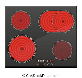 surface for electric stove vector illustration isolated on...