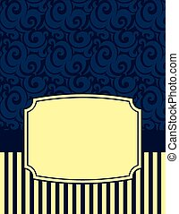 Elegant Striped Notecard with copy