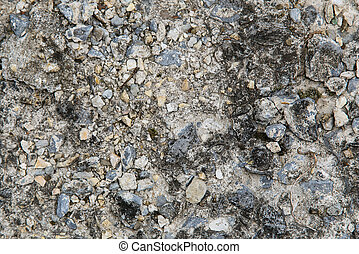 macadam close up texture with stones