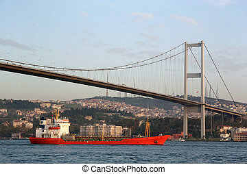 Freighter ship - Freighter ship on Bosporus - Istanbul