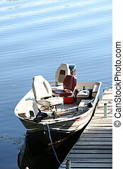 Fishing boat at the dock - A fishing boat at the dock on a...