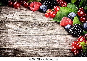 新鮮, 框架, 漿果, 夏天