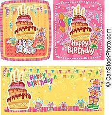 Set of Happy Birthday cards