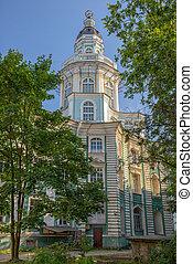 Tower of Kunstkamera museum in St. Petersburg - Tower of...