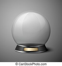 Vector crystal ball for fortune tellers. Isolated on grey...
