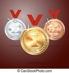 Vector Golden, Silver and Bronze me