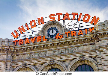 Union Station in Denver - Union Station in downtown Denver,...