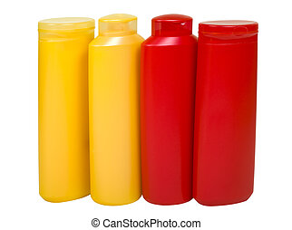 Hygienic Supplies in Colorful Bottles