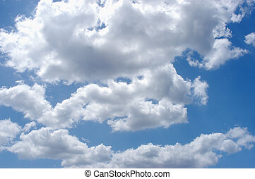 sky clouds - clue sky with puffy white clouds