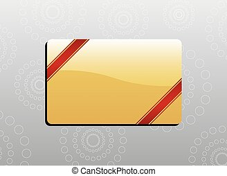Giftcard with red ribbons on the corners