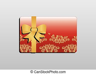 Giftcard - Red gift card with gold bow
