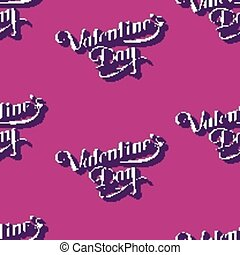 vector seamless pattern of handwritten St Valentines Day...