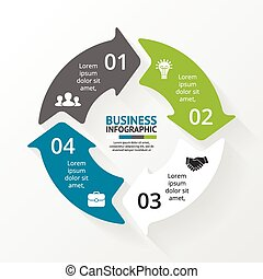 Circle arrows infographic Diagram, graph - Layout for your...