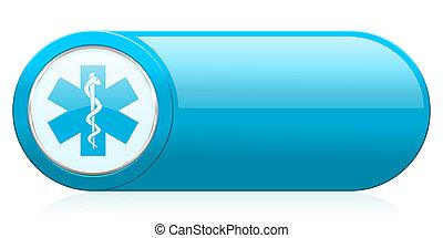 ospedale, icona, emergenza, segno