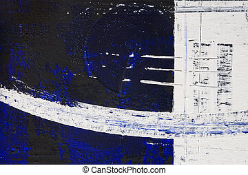 blue black acrylic painting - close up of abstract acrylic...