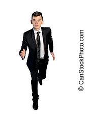 Business man run