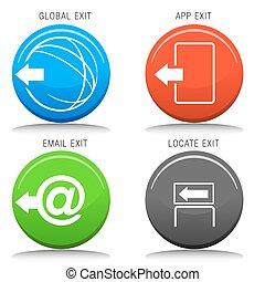 Exit Icon Set