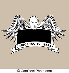 Chiropractic Health Symbol - An image of a chiropractic...
