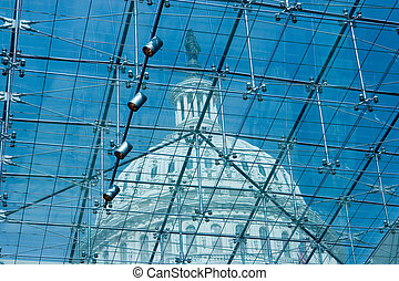 US Capitol - The US Capitol as seen through the Visitor�s...