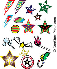 star and different symbol illustration