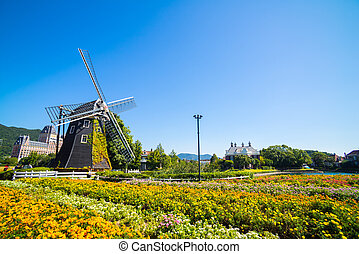 Windmill at Huis Ten Bosch, Japan - Windmill at Huis Ten...