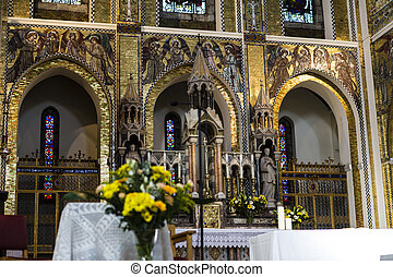 inside church in north london, united kingdom - inside nice...