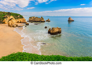 Wonderful beaches of Portugal. Lagos, Algarve.