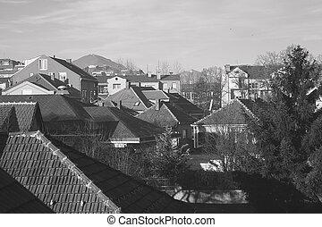 Hometown - East European town, classical Serbian or Balkan...