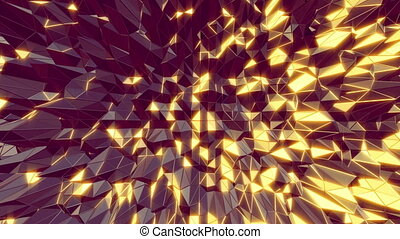 Abstract 3D cool manga style moving
