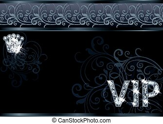 Diamond VIP greeting card , vector illustration
