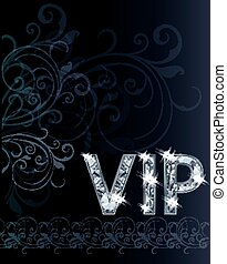 VIP Diamond invitation card, vector illustration