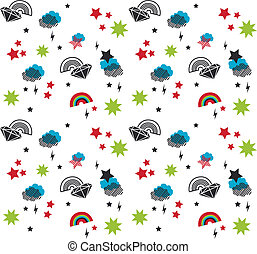 baby vector seamless pattern