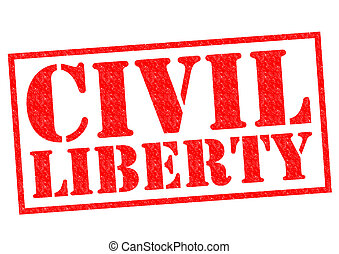 CIVIL LIBERTY red Rubber Stamp over a white background.