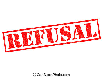 REFUSAL red Rubber Stamp over a white background.