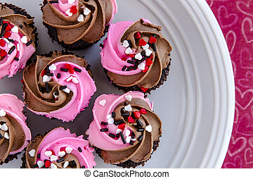 Valentines Day Candy and Cupcakes - Valentines Day chocolate...