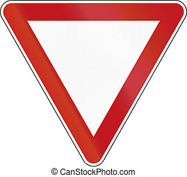 Give Way - German traffic sign: Give way!