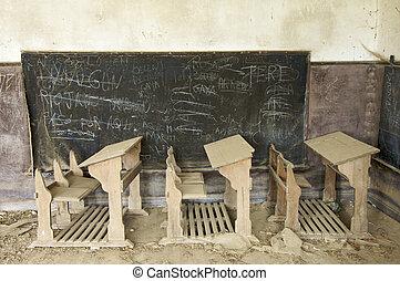 abandonado, escritorios