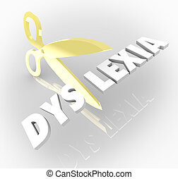 Dyslexia Words Scissors Cutting Reading Condition Disability...