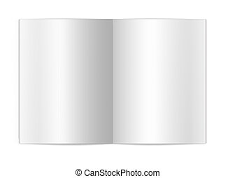 Blank book page - Isolated white background blank book pages...