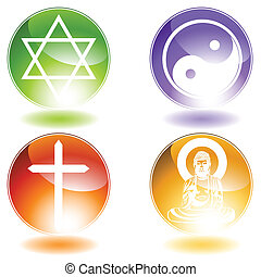 Religion Set vector illustration graphic scalable to any...