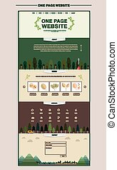 outskirt scene one page website design template in flat...