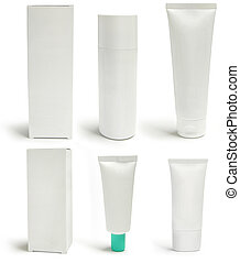 Medical packs and containers, blank - Cosmetics packs and...