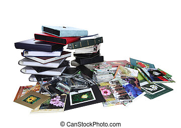 Family Photo Albums - Stack of old family photo albums...