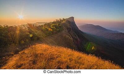 Sunrise over mountain