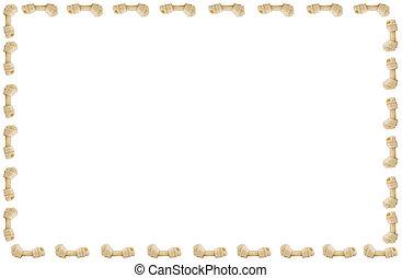 Bone - Dog bone (toys) isolated on a white background (with...