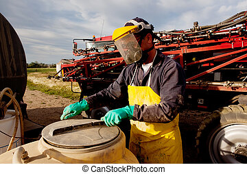 Chemical Safety - Filling a high clearance sprayer with...