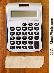 Electronic calculator for financial calculations and a note...