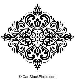 Damask Pattern. Orient Background - Damask floral light...